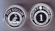 2003 SILVER Proof $5 Kangaroo Coin Port Phillip ex Masterpieces in Set