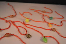Lot of 10 STRING CHARM BRACELETS  New! Jewelry USA SELLER Kids Girl Party Favors