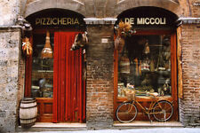 Bicycle Parked Outside Historic Food Store, Siena, Tuscany, Italy Poster - 36x24