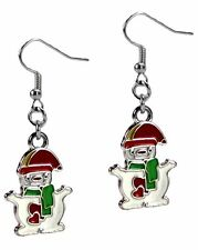 Christmas Dangle Fashion Earrings Polar Bear Enamel Silver Grace Of New York