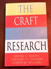 "1995 ""The Craft of Research"" Booth Colomb Williams (paperback)"