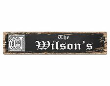 SP0447 The WILSON'S Family name Plate Sign Bar Store Cafe Home Chic Decor