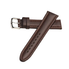 Hadley Roma Stitched Oil Tan Leather Smooth Watch Band Strap Brown 20mm MS882
