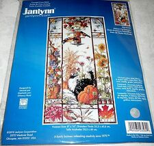 "Janlynn Counted Cross Stitch Kit AUTUMN CAT SAMPLER 8"" x 16"""