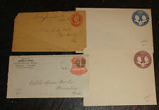 lot 4 early US cover postal stationary stamp