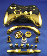 Replacement Custom Chrome Copper Xbox 360 Controller Shell Case.