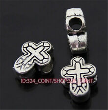 P399 10pc Tibetan Silver Charm cross Spacer Beads accessories wholesale
