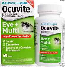 NEW BAUSCH & LOMB OCUVITE EYE + MULTI MULTIVITAMIN MINERAL SUPPLEMENT DAILY CARE