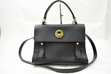 Authentic Saint Laurent Paris Hand Bag Muse Two Black Leather 142764