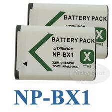 2x NP-BX1 npbx1 Battery for Sony Cyber-Shot 1240mAh DSC-RX100M & DSC-HX50V