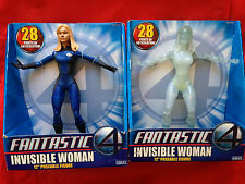 "JESSICA ALBA INVISIBLE WOMAN 12"" Fantastic Four 4 Figure Lot 2 Versions"