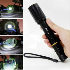 Zoomable Tactical 4000LM CREE XML T6 LED Flashlight Torch Lamp 18650 Batteries