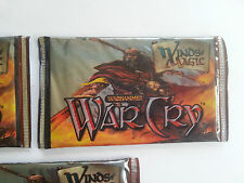 WARHAMMER WAR CRY  -WINDS OF MAGIC 5 x booster pack factory sealed 2003
