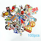 100pcs Street Art Stickers Decal Vinyl Skate Snow Surf Board Laptop Guitar
