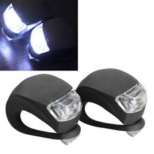 2PCS Useful Bike Bicycle Cycling Head Front Rear Wheel LED Flash Light Lamp FT