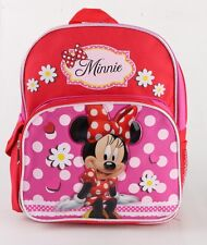 New Disney Minnie Pink  12'' Medium size Girls School Backpack Kids Book Bag