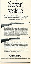 1969 Print Ad of JL Galef BSA Monarch DeLuxe & Meteor Super Air Rifle