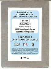 2011 TOPPS UPDATE US134 MICHAEL BOURN Braves Orioles PRINTING PLATE 1/1 !!!