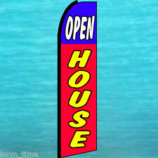 OPEN HOUSE FLUTTER FLAG KING SIZE Feather Swooper Advertising Banner Sign 3062