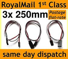 250mm Servo Extension Lead Wire Cable for RC/Futaba/JR/Hitec/Sanwa 25cm