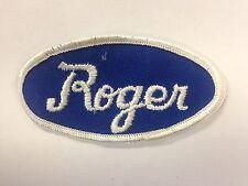 Vtg Usa Name Patch (Roger) Uniform Shirt Jacket