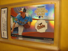 DYLAN BUNDY ORIOLES 2012 BOWMAN CHROME ALL-STAR FUTURES REFRACTOR RC GRADED 10