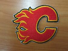 NHL Calgary Flames Logo embroidered Iron on Patch High Quality 4 x 3.13 ''