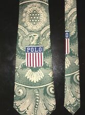 Vintage POLO Ralph Lauren Kswiss Money Tie Stadium 1992 Polo Snow Beach Crest