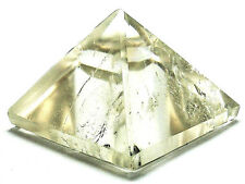 PYRAMID - SMOKY QUARTZ 25-30mm Crystal w/Description &Pouch- Healing Reiki Stone