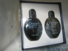 CALVIN KLEIN OBSESSION NIGHT MEN 2 Pcs Set:4.0 EDT Spray,4.0 After Shave Lotion