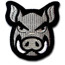 Wild Pig Patch Iron on Badge Chopper Biker Motorcycle Rider Vest Cartoon Sew Kid