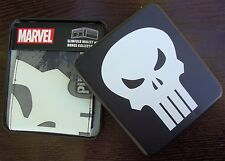 Marvel Comics The Punisher Slimfold Wallet  W/ Collector Tin Case Box Black Skul