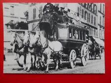 POSTCARD FRANCE OMNIBUS A CHEVAUX PARIS 1900