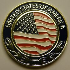 NEW American Flag Magnetic Pocket Coin With removble Golf Ball Marker - See Pics