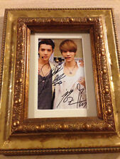 VERY RARE!! EXO Sehun + Luhan HunHan SeLu Signed Photo / Framed Kpop Autograph
