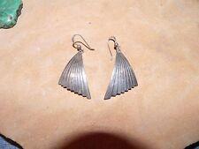Sterling Silver WING FAN design Earrings Navajo