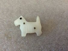 Vintage Carved Mother of Pearl Scottie Dog Pin