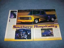 "1978 Chevy C10 Step Side Custom Vintage Article ""Southern Hospitality"" C/10"