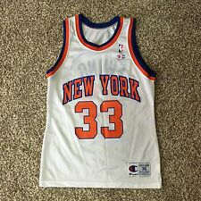 Vintage 90's Champion Patrick Ewing New York Knicks Jersey - White - Size 36 USA