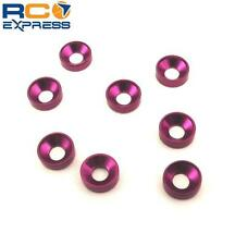 Hot Racing Purple Aluminum 3mm Countersunk Washer (8) CW36807