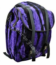 Jordash Large,Tie Dye Purple & Black Velour Velvet Rucksack  BackPack Bag Travel