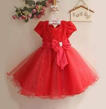 Baby Christmas Wedding Flower Girl Bridesmaid Party Occasion Dress 3 Months-8 Yr