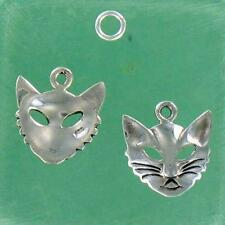 Sterling Silver CAT FACE CHARM