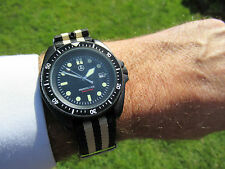 SBS HOMAGE MILITARY DIVERS 300M PROFESSIONAL DATE BLACK PVD V/G/C SWISS MOVEMENT