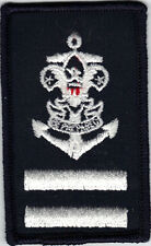 """Sea Scout Ordinary Position Patch, White on Blue, """"Since 1910"""" Backing, Mint!"""