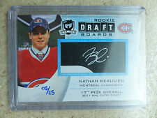 11-12 UD The Cup Auto RC Rookie Daftboards Draft Boards NATHAN BEAULIEU /25