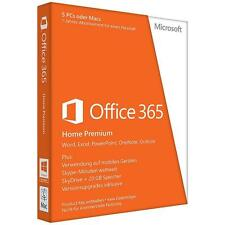 Microsoft Office 365 Home Premium (5 Geräte) - Vollversion Key 1Jahr