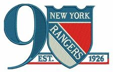 NEW YORK RANGERS PATCH 90TH ANNIVERSARY 2016-17 JERSEY NATIONAL HOCKEY LEAGUE