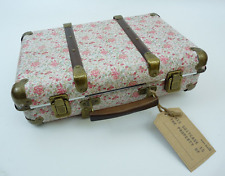 Vintage Style Suitcase with Ditsy Rose Pattern, Ideal for Weddings