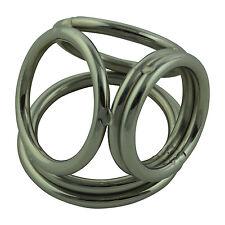 4 Fach Ring FourtyRing large Intimschmuck Edelstahl NEU